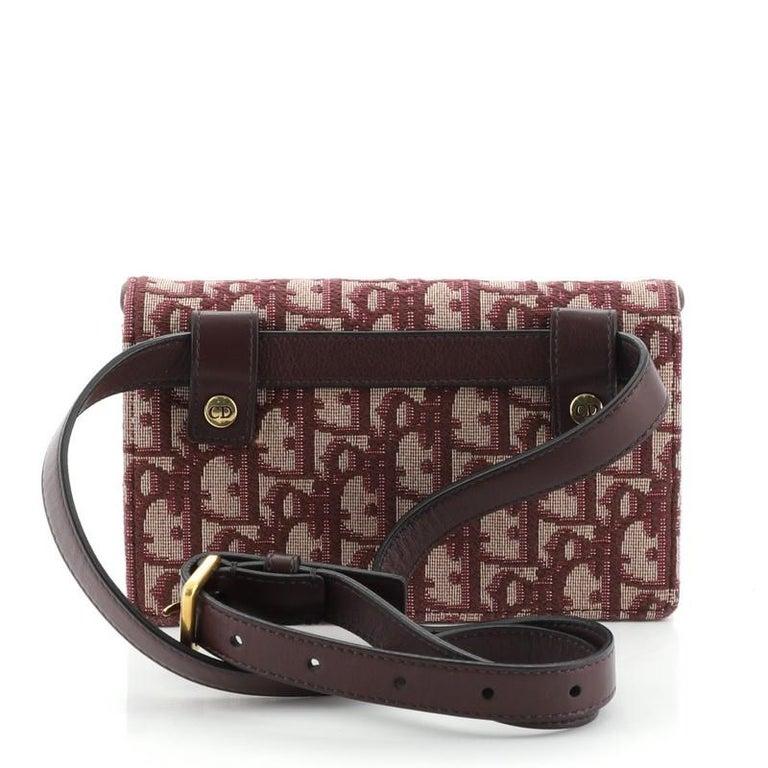 Women's or Men's Christian Dior Saddle Rectangular Belt Bag Oblique Canvas For Sale