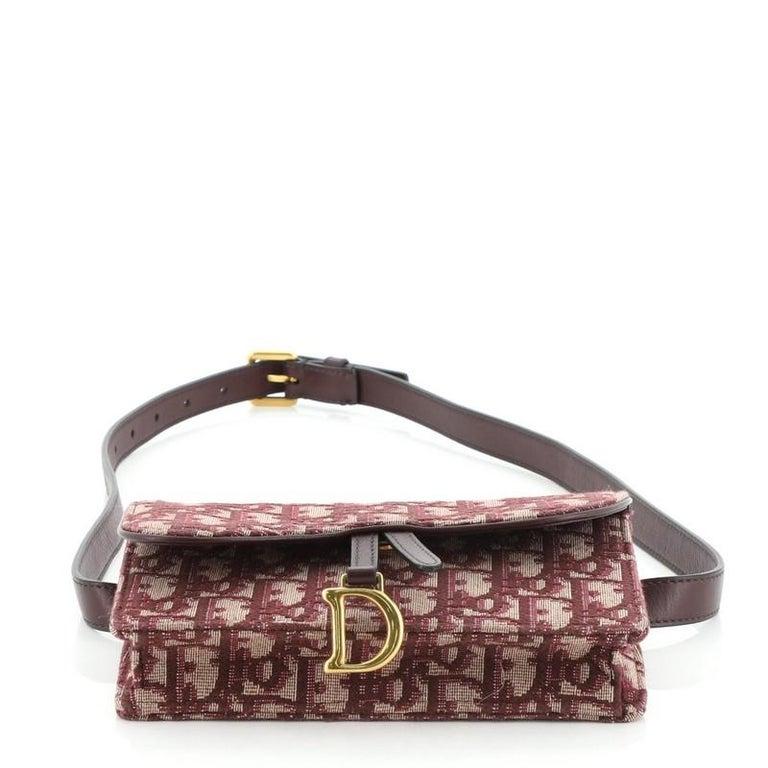 Christian Dior Saddle Rectangular Belt Bag Oblique Canvas For Sale 1