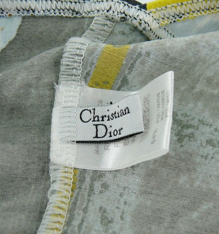 Christian Dior Shiny Wet Look Trompe L'oeil Denim Print One-Pïece Swimsuit For Sale 5