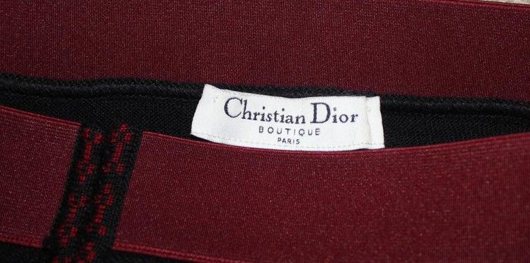 Women's Christian Dior Silk & Cashmere Strapless Peek-a-boo Evening Dress Gown For Sale
