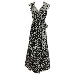 Christian Dior Silk Crepe Polkadot Wrap Dress