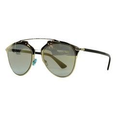 Christian Dior Silver Mirrored Dior Reflected Sunglasses w. Case rt. $480