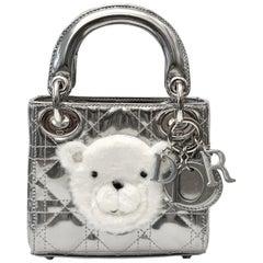 Christian Dior Silver Nano Lady Dior Baby Dior Bag