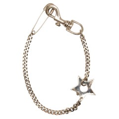 Christian Dior Silver Star & Safety Pin Necklace