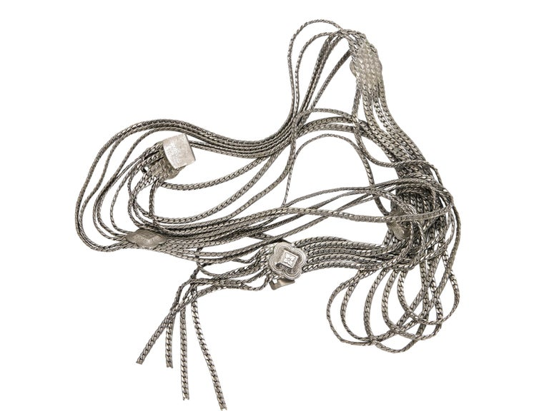 Christian Dior Silvertone Multi-Chain Belt In Good Condition For Sale In New York, NY