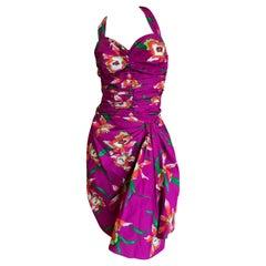 Christian Dior Spring Summer 2011 by John Galliano Sarong Style Cotton Sun Dress