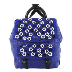 Christian Dior Stardust Backpack Cannage Quilt Lambskin with Embellished Mesh Me