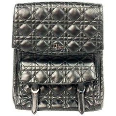 Christian Dior Stardust Black Leather Cannage Qulit Backpack