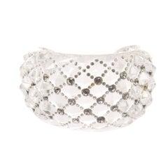 Christian Dior Swarovski Crystal Quilted Lucite Cuff