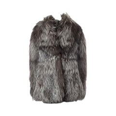CHRISTIAN DIOR taupe FOX FUR Winter Coat Sz. F38 / M