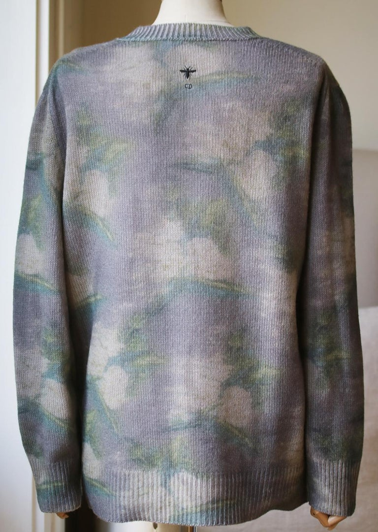 Christian Dior Tie-Dye Printed Cashmere Sweater In Excellent Condition For Sale In London, GB