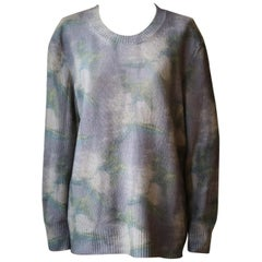 Christian Dior Tie-Dye Printed Cashmere Sweater