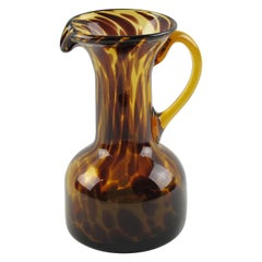 Christian Dior Tortoiseshell Glass Barware Pitcher