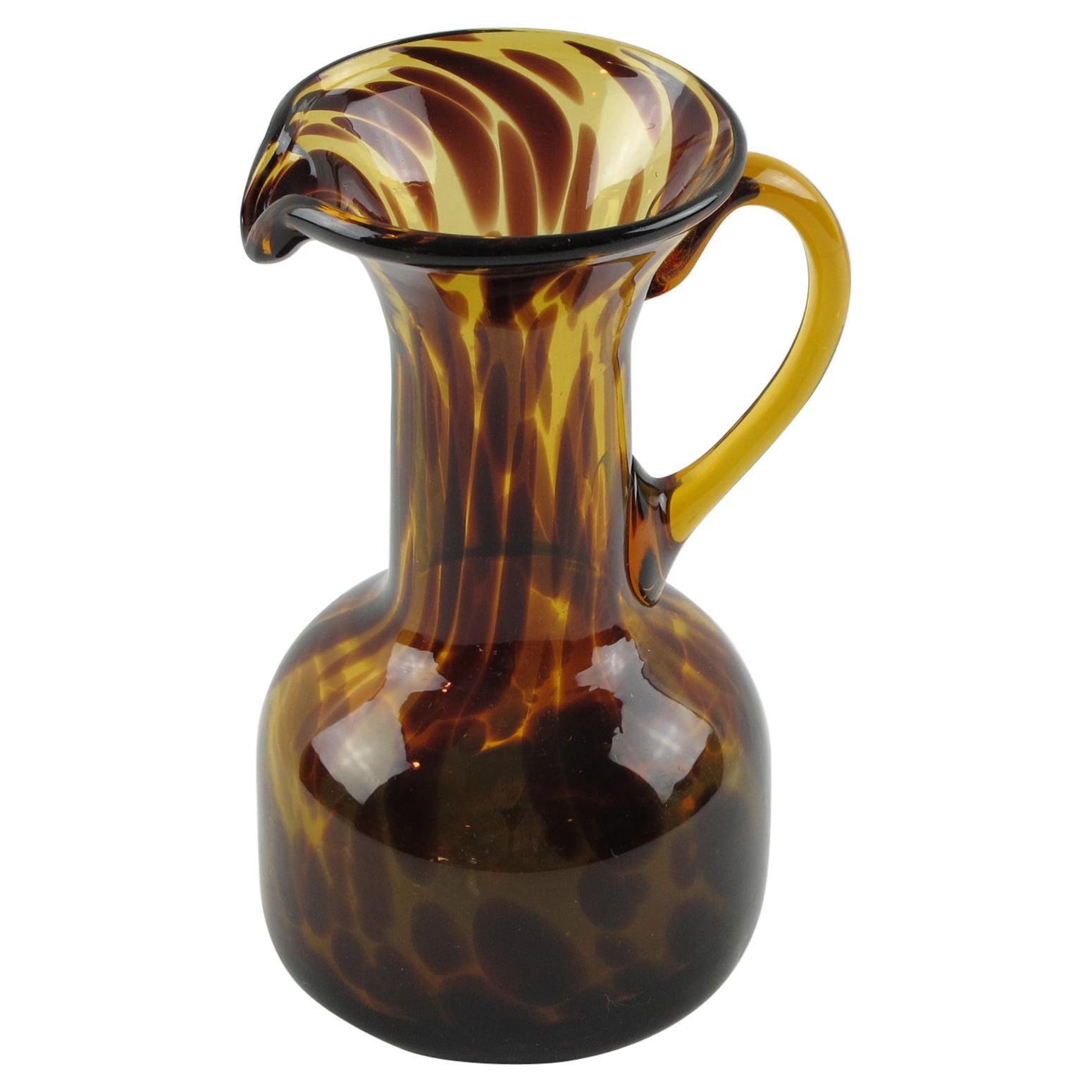 Christian Dior Tortoiseshell Glass Barware Pitcher