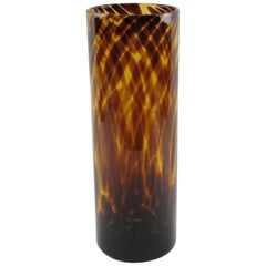 Christian Dior Tortoiseshell Glass Tumbler Vase