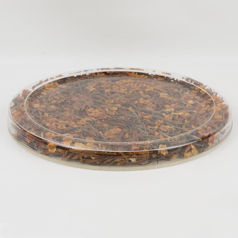This is a very special and unique serving tray, designed by Christian Dior in 1972 for his Home Collection named