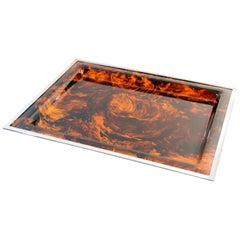 Christian Dior Tray Tortoise Lucite, 1970s