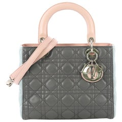0389d61ffc Christian Dior Tricolor Lady Dior Handbag Cannage Quilt Leather Medium