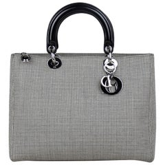 Christian Dior Tweed Large Lady Dior Bag