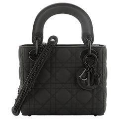 Christian Dior Ultra Matte Lady Dior Chain Bag Cannage Quilt Calfskin Mini
