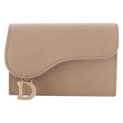Christian Dior Ultra Matte Saddle Card Holder Leather