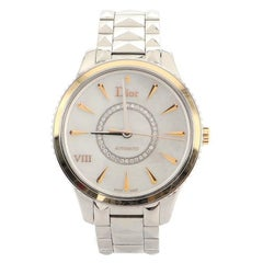 Christian Dior VIII Montaigne Automatic Watch Stainless Steel with Rose Gold
