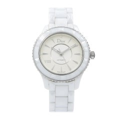 Christian Dior VIII Steel White Ceramic Automatic Ladies Watch CD1245E3C001