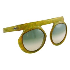 Christian Dior Vintage 1970s Oversized Space Age Sunglasses Mod. 2030-50
