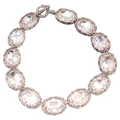 Christian Dior Vintage 80's Crystal Collar Necklace