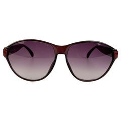 Christian Dior Vintage Black Burgundy Optyl Sunglasses Mod 2325