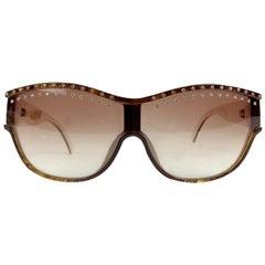 Christian Dior Vintage Brown Crystal Sunglasses 2438 58/15135 mm