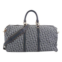 Christian Dior Vintage Convertible Weekender Bag Diorissimo Canvas Large