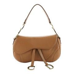Christian Dior Vintage Double Saddle Bag Leather