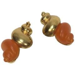 CHRISTIAN DIOR Vintage Earrings By Goossens
