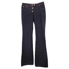 Christian Dior Vintage Galliano Monogram Jeans 2005
