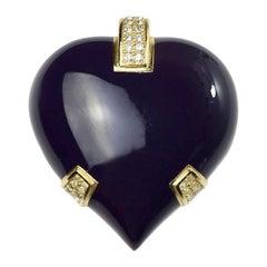 Christian Dior Vintage Heart Brooch