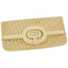 Christian Dior Vintage Ivory Monogram Iconic Convertible Canvas Bag