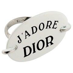 Christian Dior Vintage J'Adore Dior Enamel Ring