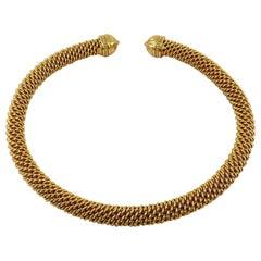 Christian Dior Vintage Rigid Chain Torque Necklace