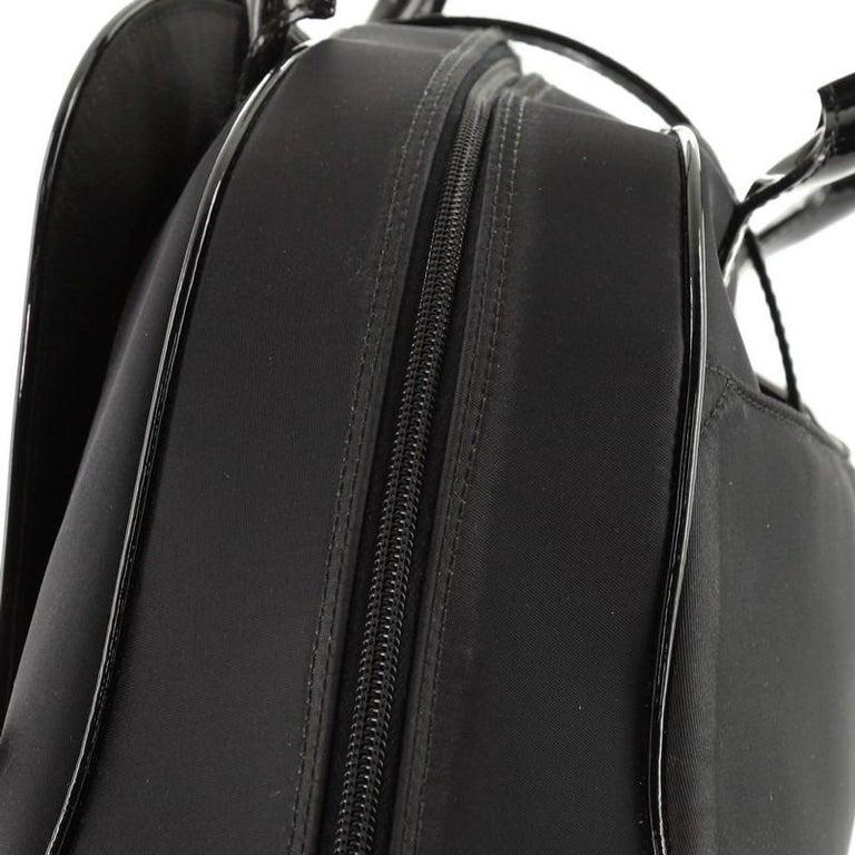 Christian Dior  Vintage Saddle Bowler Bag Nylon Large For Sale 7