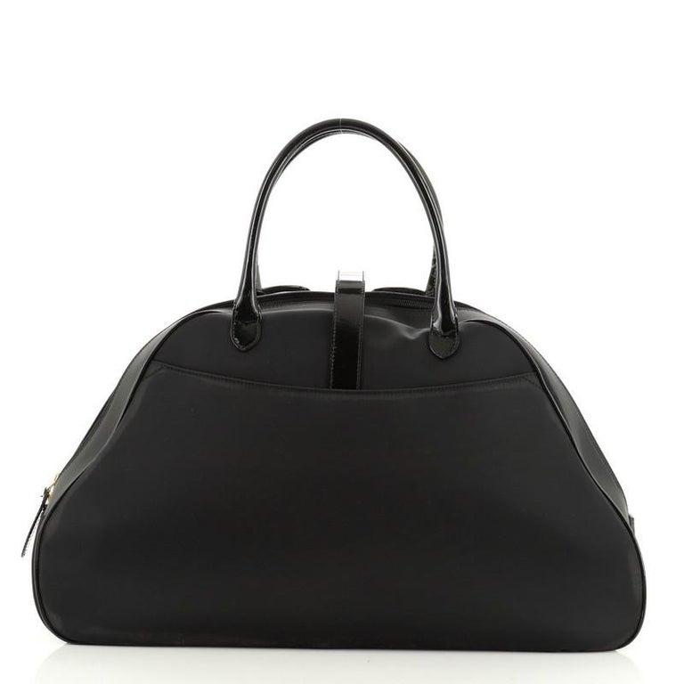 Women's or Men's  Christian Dior  Vintage Saddle Bowler Bag Nylon Large For Sale