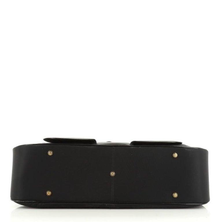Christian Dior  Vintage Saddle Bowler Bag Nylon Large For Sale 2