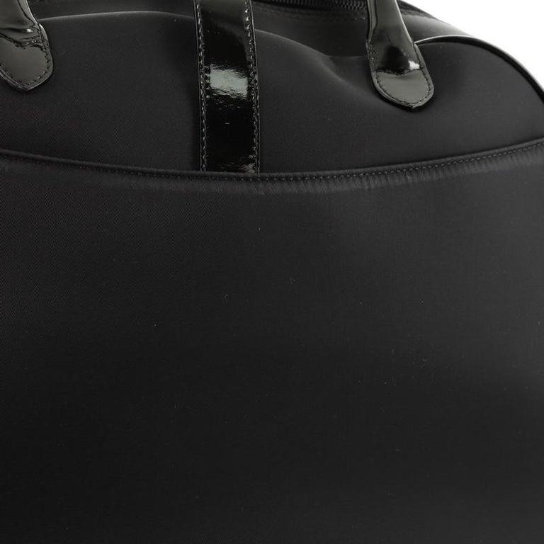 Christian Dior  Vintage Saddle Bowler Bag Nylon Large For Sale 4