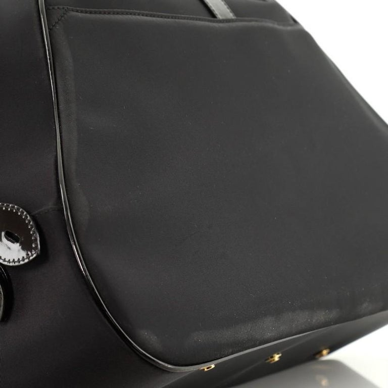 Christian Dior  Vintage Saddle Bowler Bag Nylon Large For Sale 5