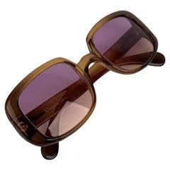 Christian Dior Vintage Semi Clear Green Women Mint 1970s Sunglasses
