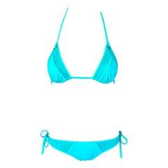 Christian Dior Vintage Unworn Logo Monogram Sheer Bikini Swimwear 2 Piece Set