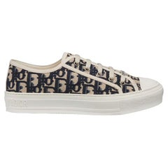 Christian Dior Walk'N'Dior Oblique Embroidered Canvas Sneakers