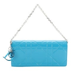 Christian Dior Wallet on Chain Cannage Quilt Patent Small