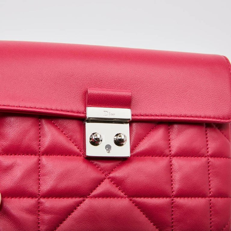 76e8b14f50 CHRISTIAN DIOR Wallet On Chain Miss Dior Bag in Quilted Soft Pink Leather  For Sale 6