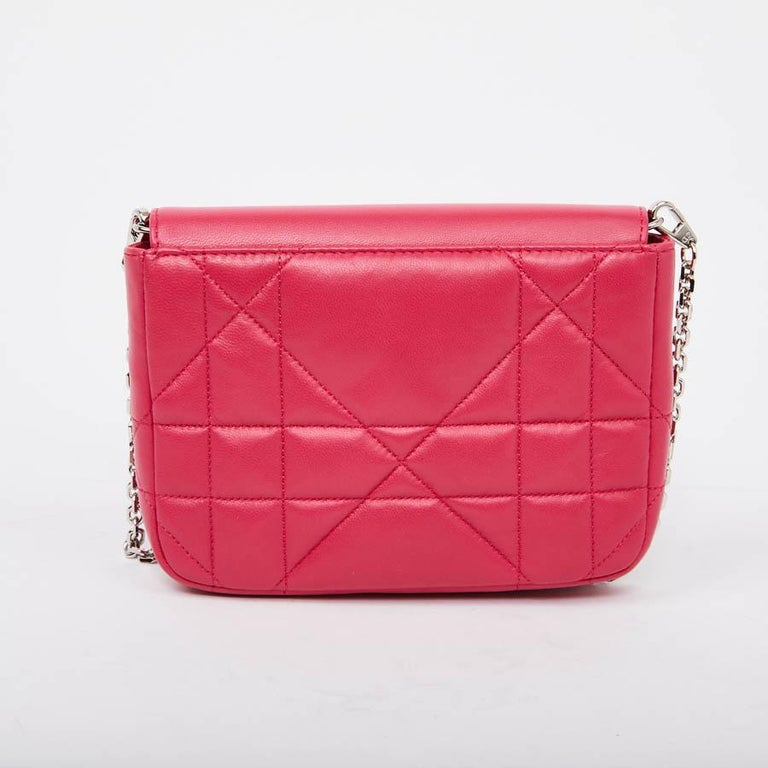 accbe712e0 CHRISTIAN DIOR Wallet On Chain Miss Dior Bag in Quilted Soft Pink Leather  For Sale 1